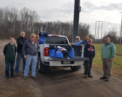 Chillicothe Knights of Columbus Deliver Sleeping Bags, Personal Care Items to Homeless